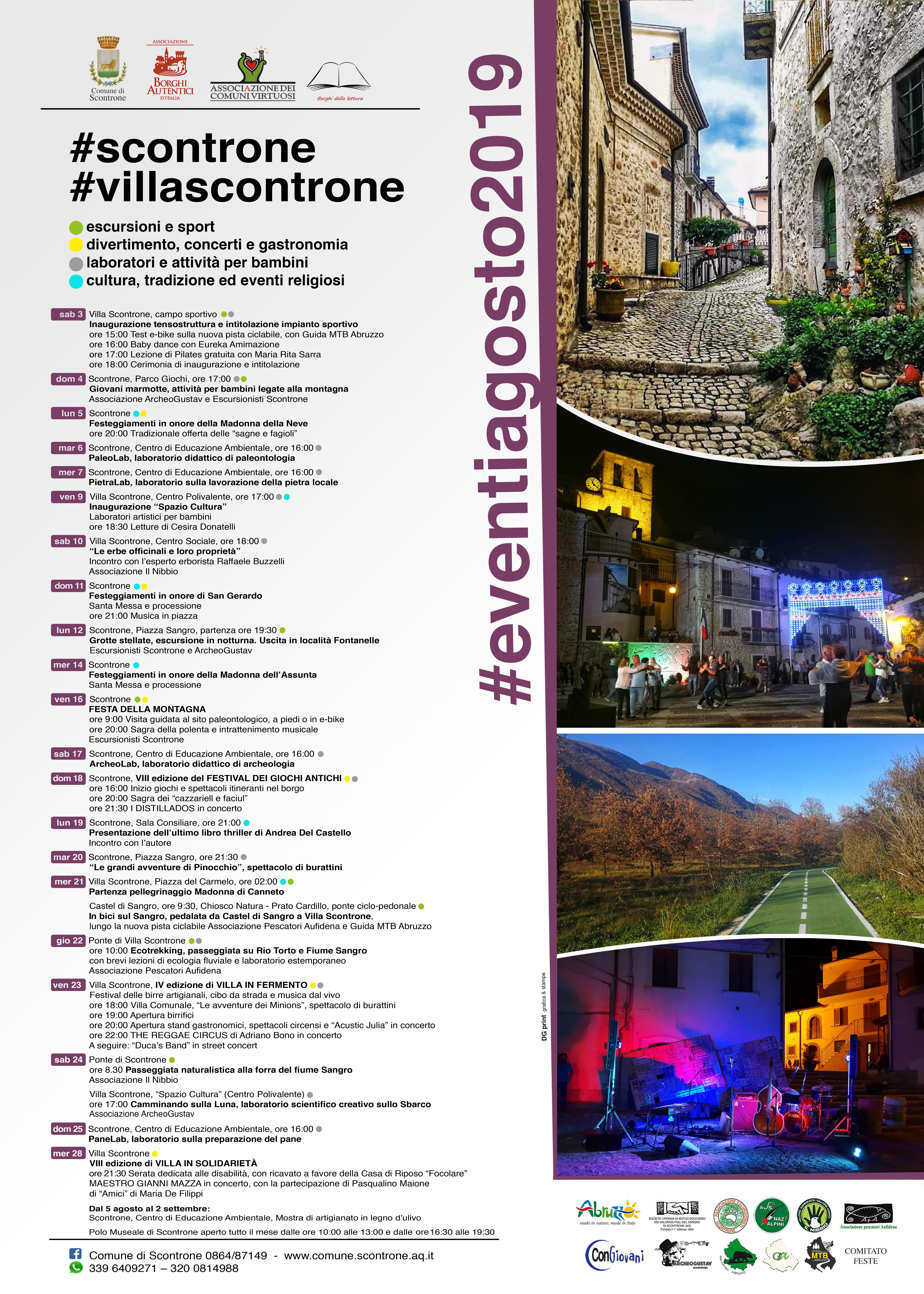Calendario Regionale Abruzzo.Scontrone E Villa Ecco Il Calendario Degli Eventi Estivi